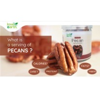 What is A serving of pecans?