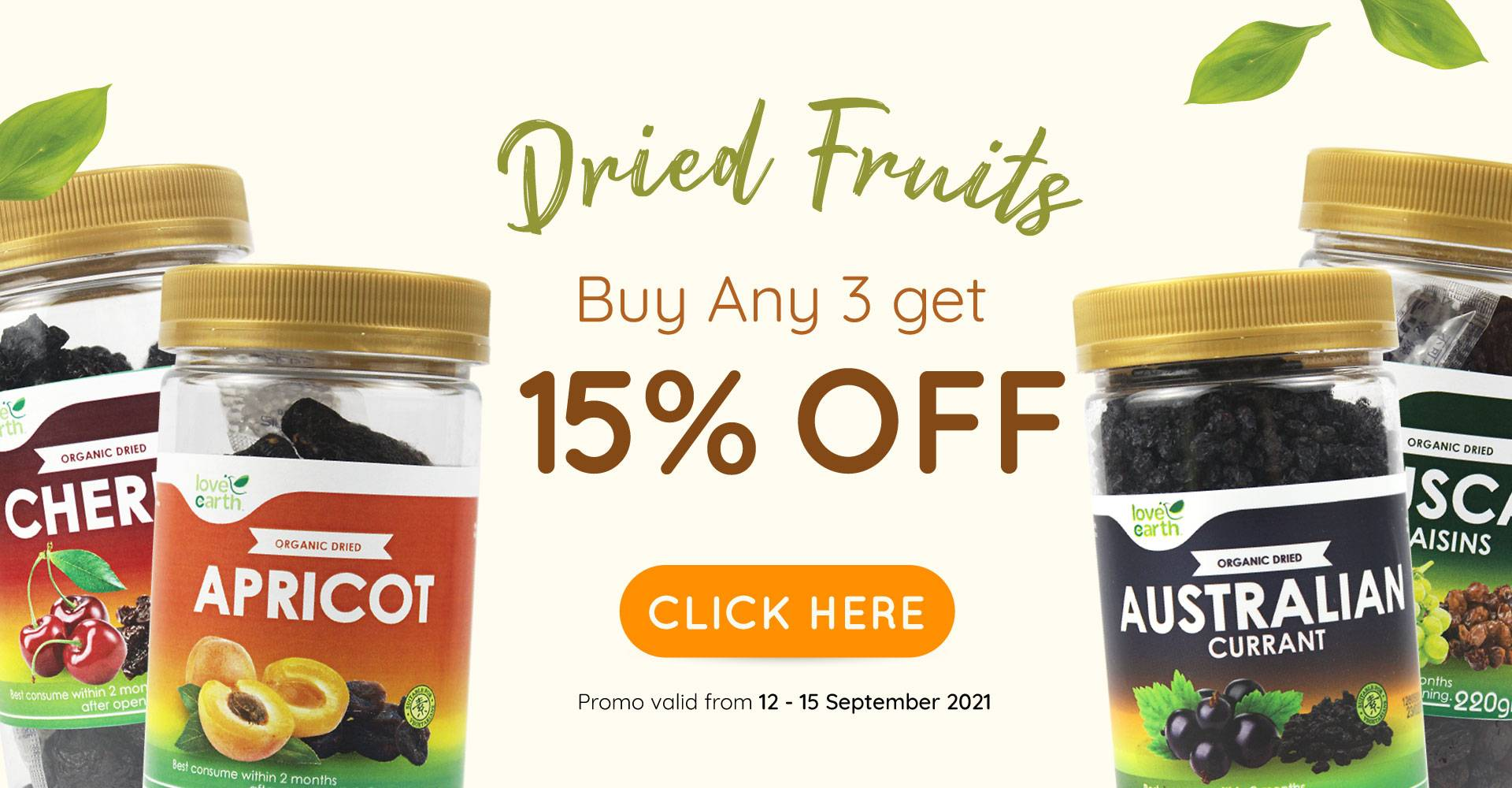 Dried Fruit Buy 3 @15% Off