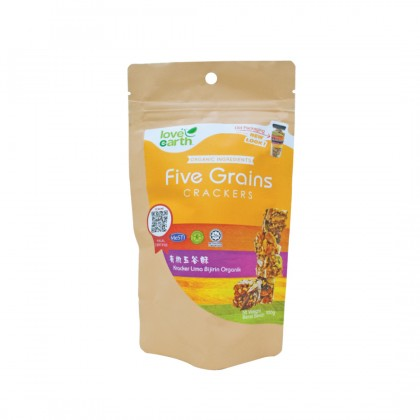Organic Five Grain Cracker 100g