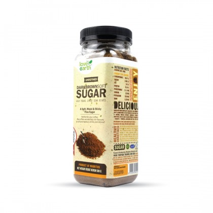Unrefined Dark Brown Soft Sugar 500g