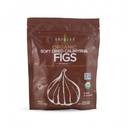 Amphora Organic Soft Dried Calimyrna Figs 170g