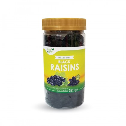 Organic Dried Fruits Black Raisin 220g