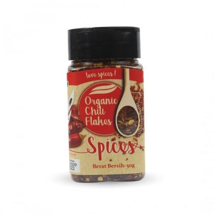 Organic Dried Chili Flakes 50g