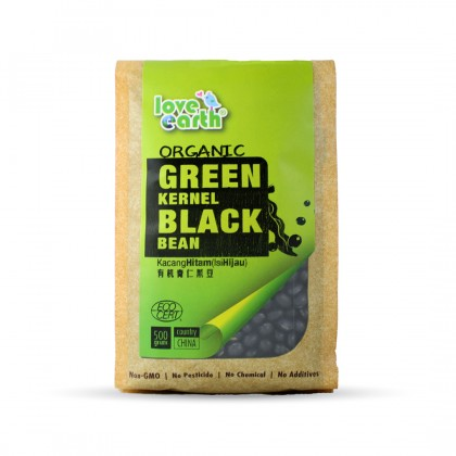 Organic Green Kernel Black Bean 500g