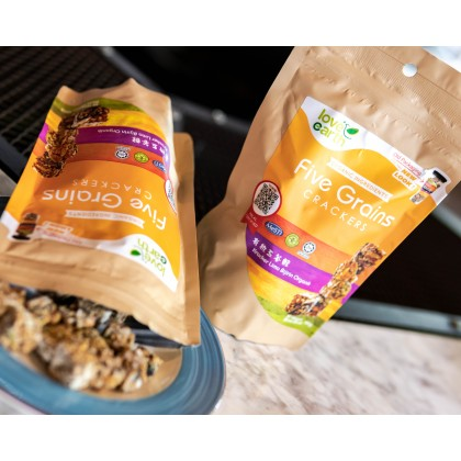 B1F1 Organic Five Grain Crackers 100g (Best Before: 12/2021)